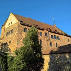 Nürnberg, Kaiserburg von Südwesten 2016
